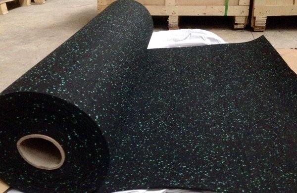 Rivestimento per pavimenti in gomma sbr m m mm verde